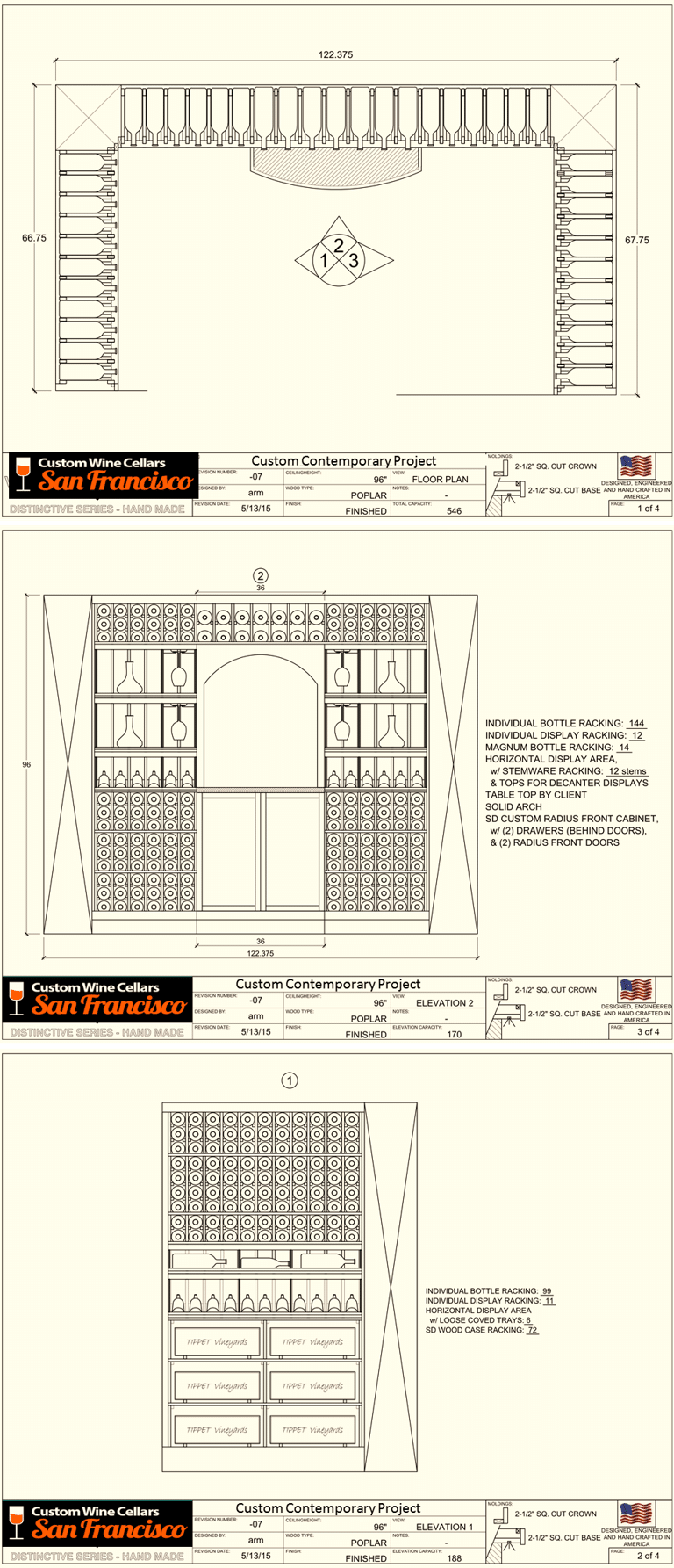 Starting a residential wine cellar in san francisco for Wine cellar plans