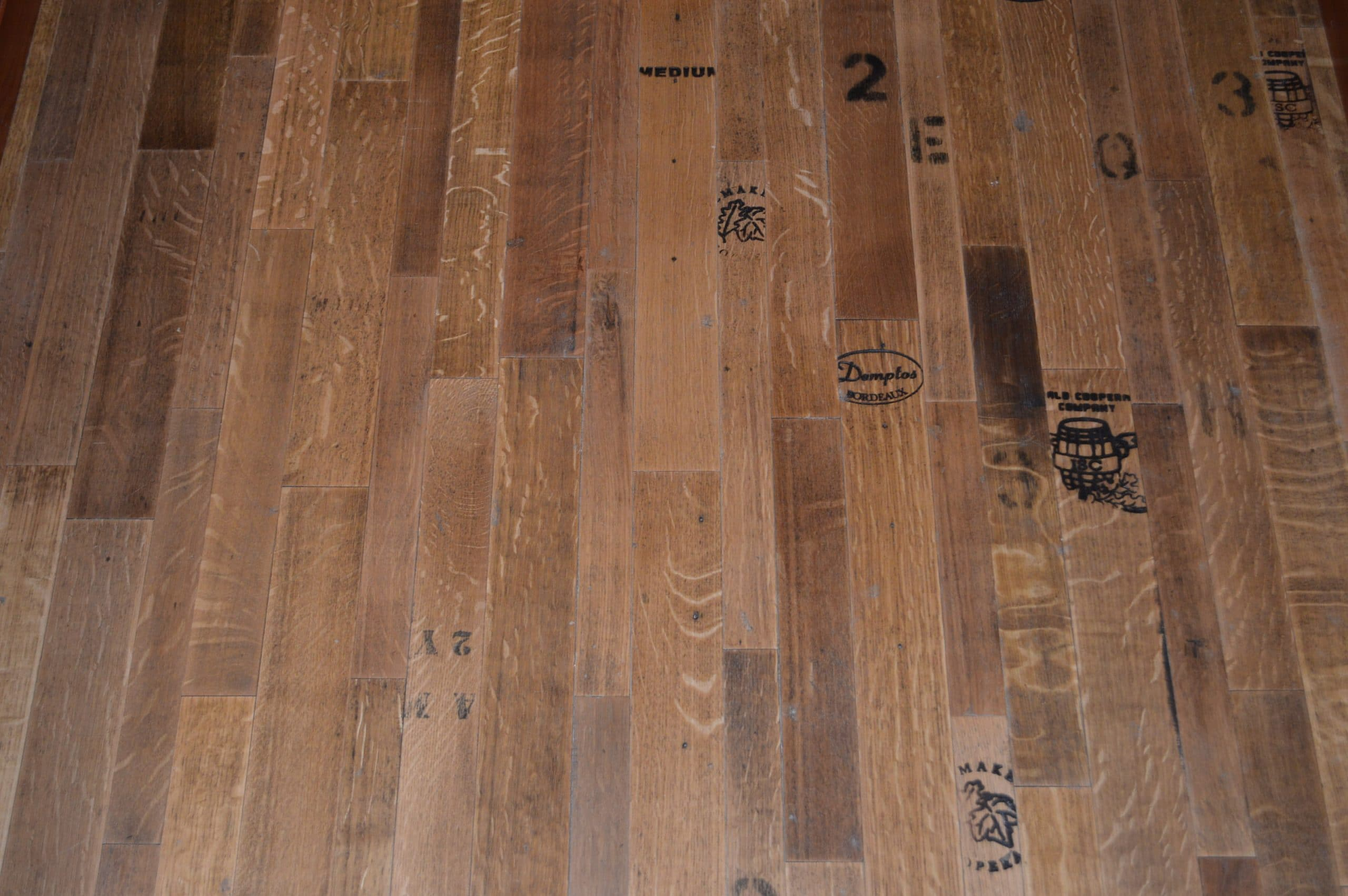 Flooring options for a distinct custom wine cellar design for Reclaimed wood flooring san francisco