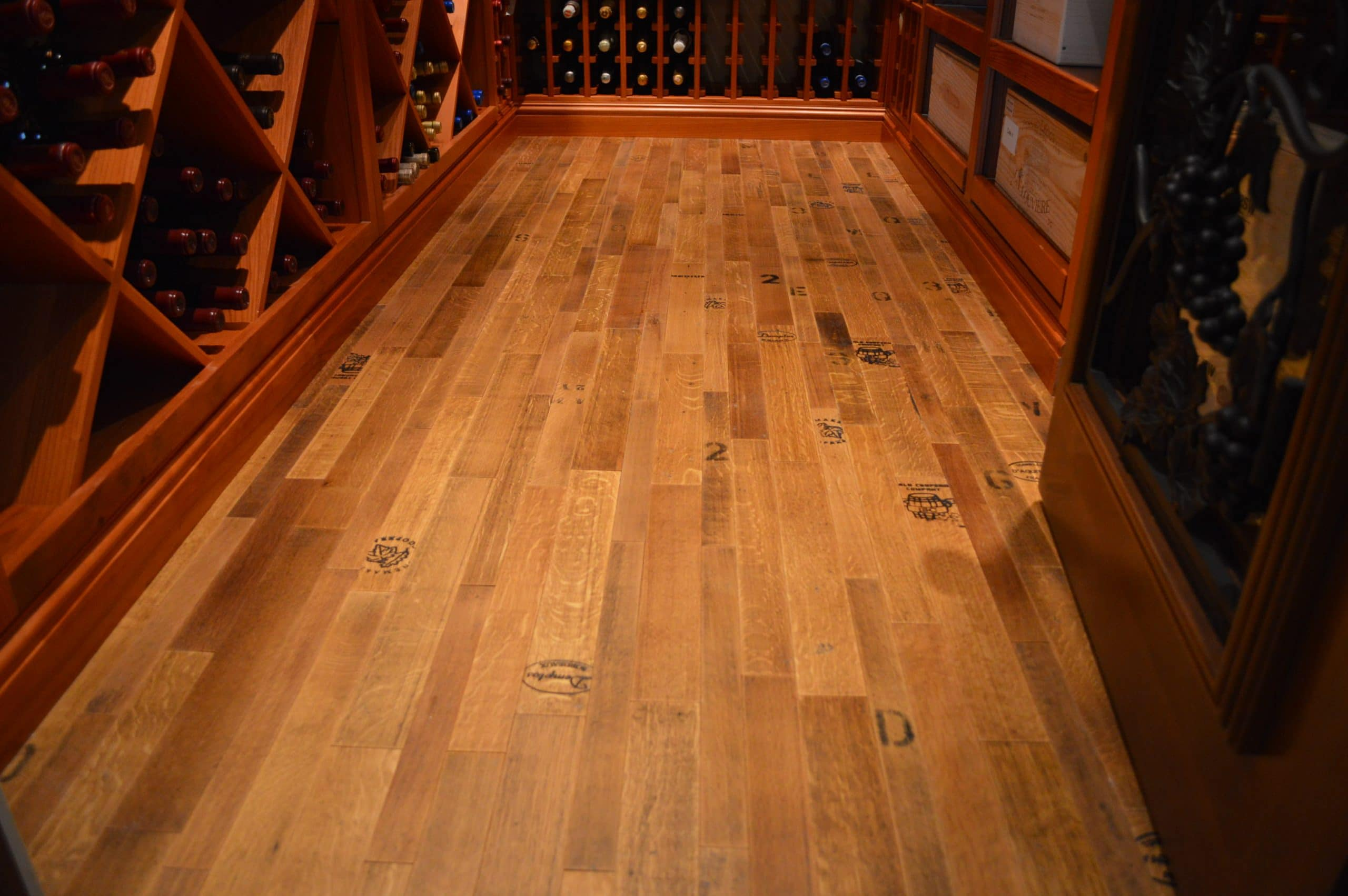 Flooring options for a distinct custom wine cellar design for Wine cellar in floor
