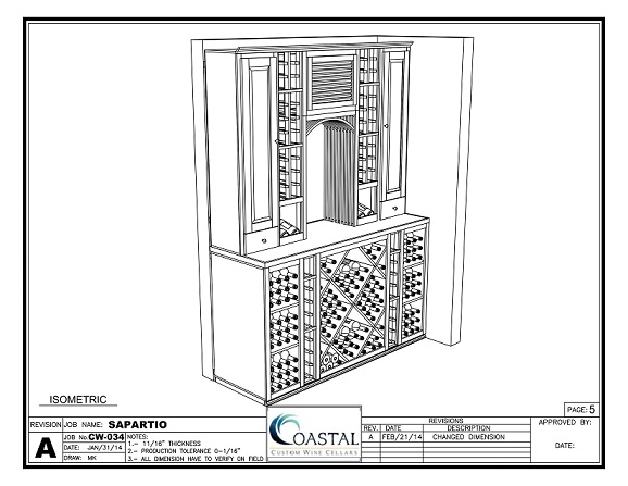3D Wine Cellar Design for this Project