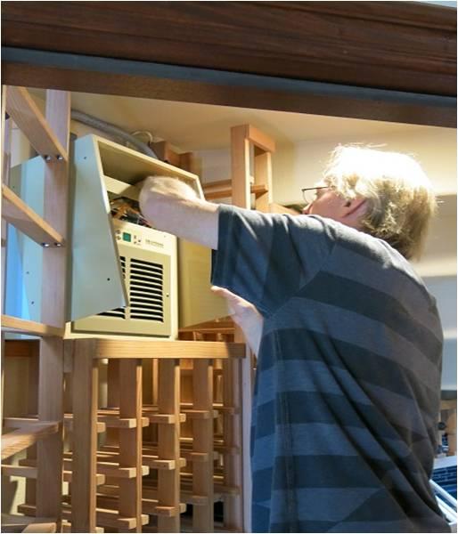 wine cellar cooling system installation