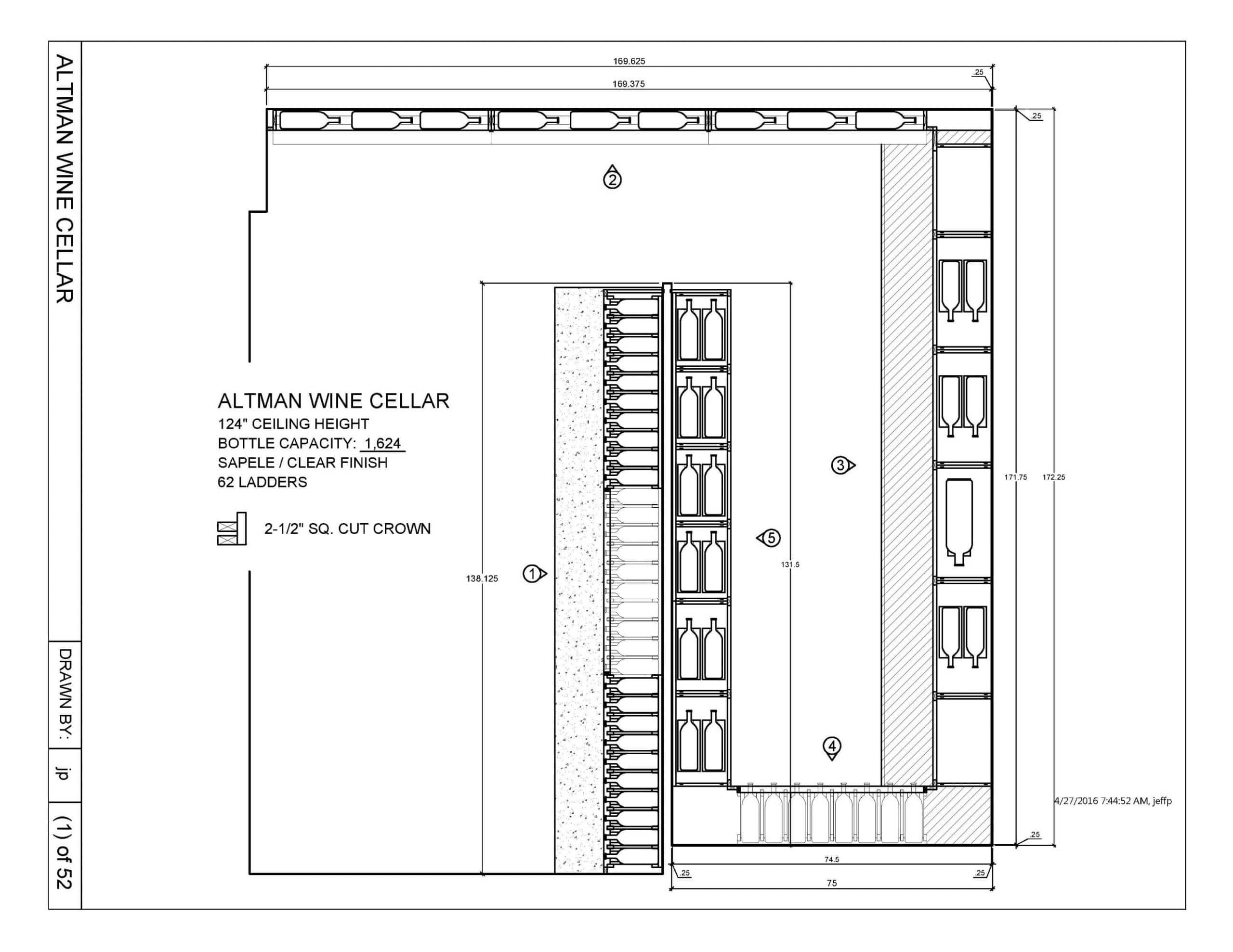 ... Wine Cellar Drawing San Francisco Installation Project ...  sc 1 st  Custom Wine Cellars San Francisco & Modern Custom Wine Cellar Design