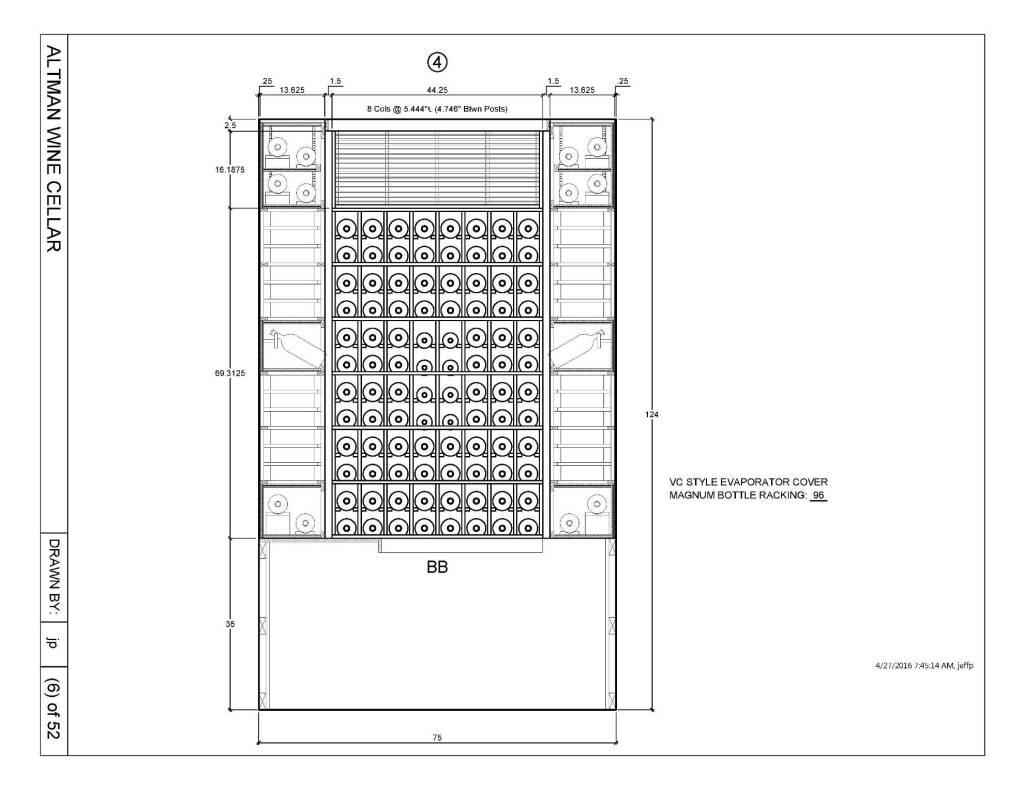 Wine Rack Design San Francisco Master Builders_Elevation 4