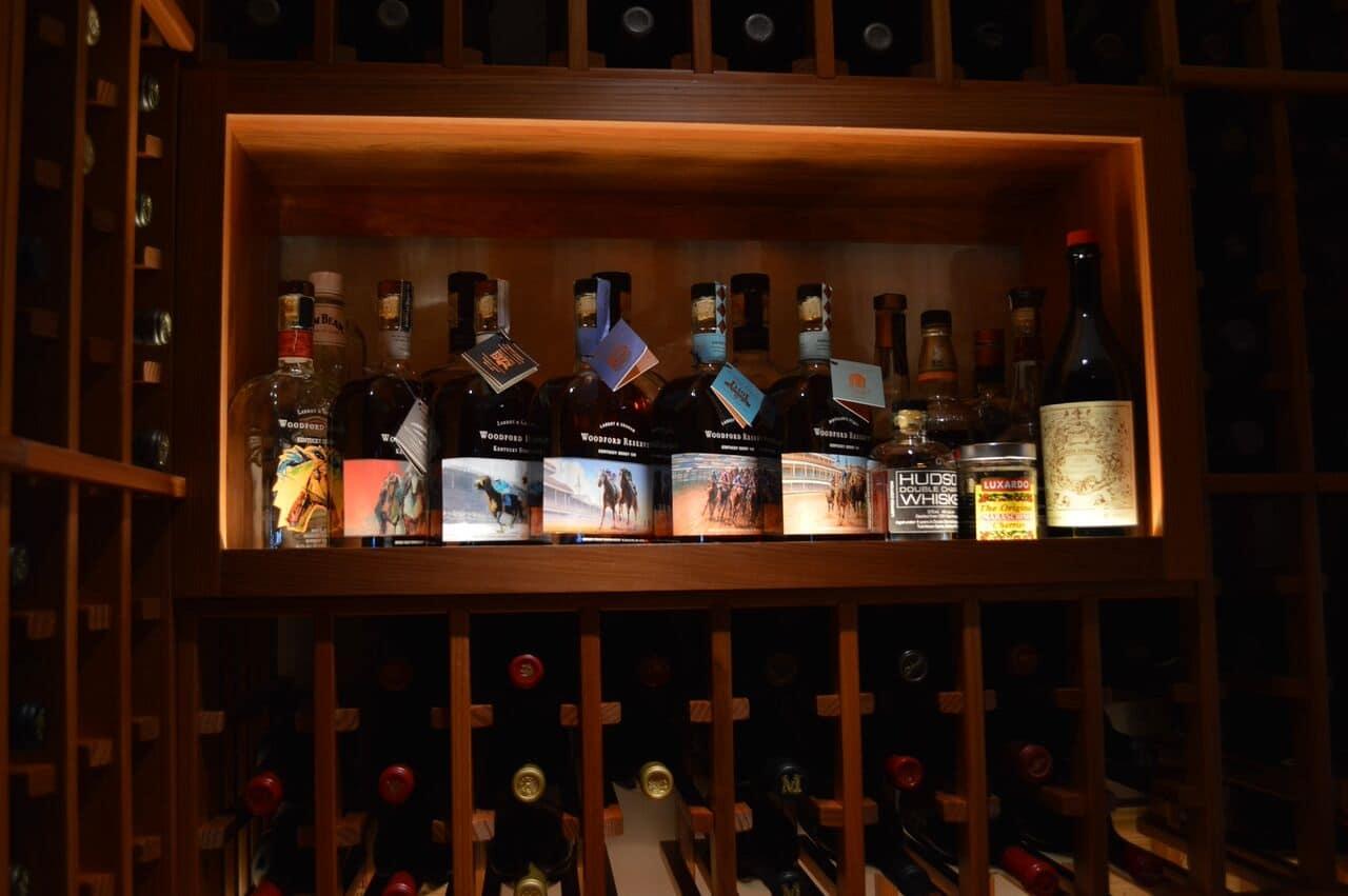 Smirnoff Vodka Wants Include Lovewins Rainbow Bottles likewise Stock Photo Bar Liquor Wine Drinks Decoration Nice Lighting Shelves Image30540890 furthermore Home Wine Cellar Design Project San Francisco California as well 171068999906 additionally Various Trend Bar Shelf Ideas. on liquor bottle shelves