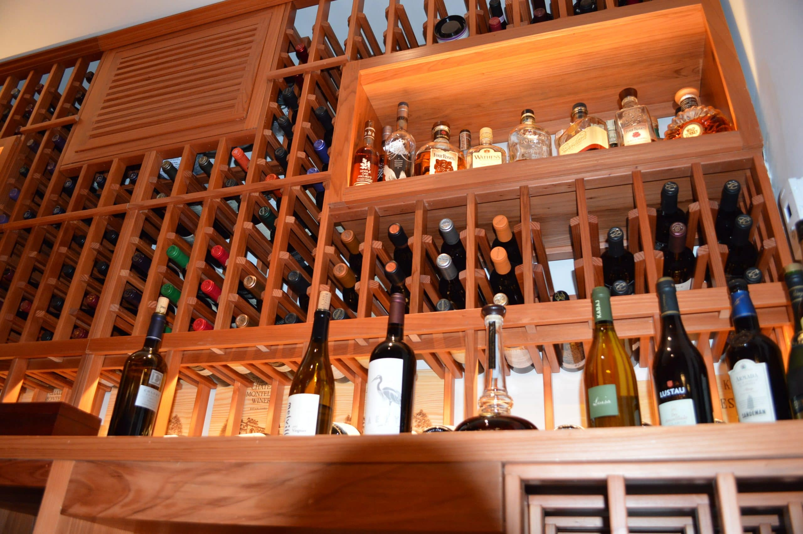 racks stact wine to enthralling image restaurant with storage display trends genial ah rack wall manly bar
