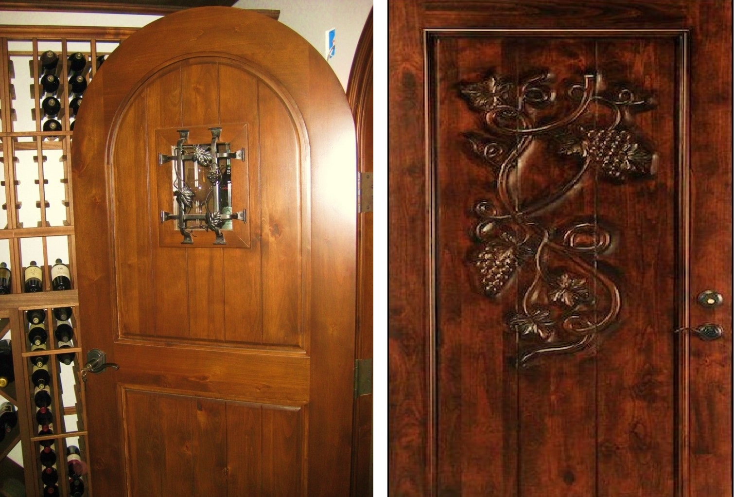 Durable wooden wine room doors. & Dependable Doors for Ideal Wine Cellar Rooms in California pezcame.com
