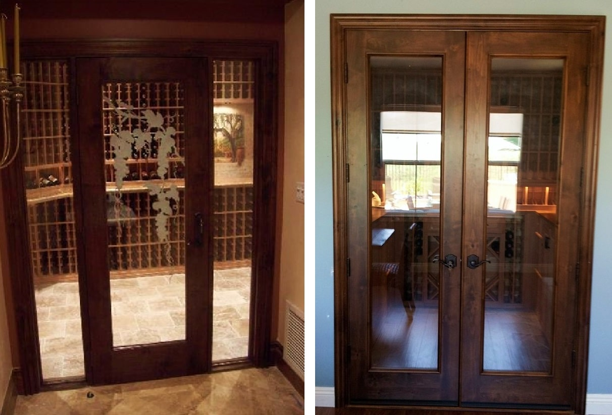 entryway closet storage ideas - Dependable Doors for Ideal Wine Cellar Rooms in California