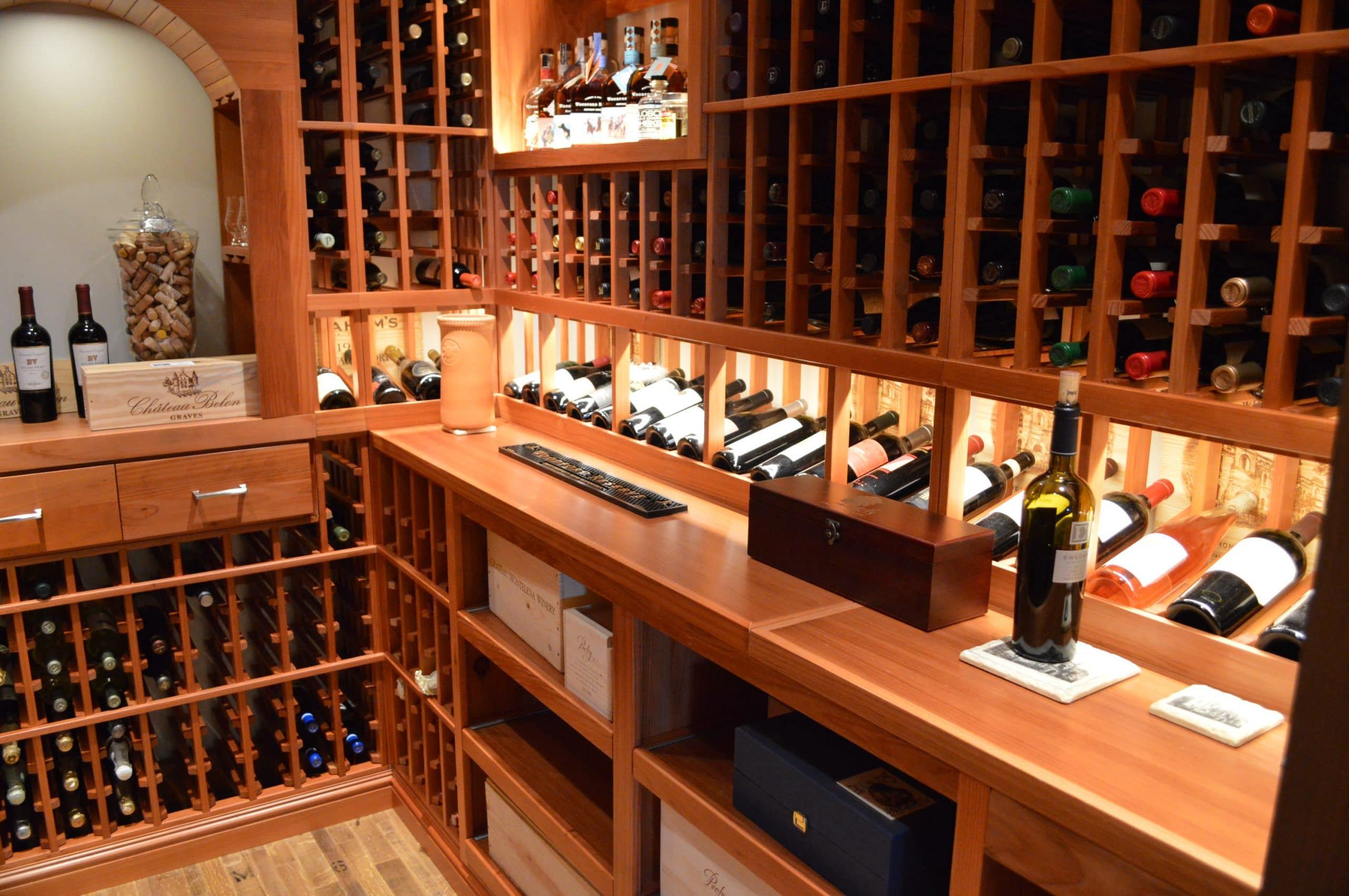 Home wine cellar construction project in san francisco for In home wine cellars