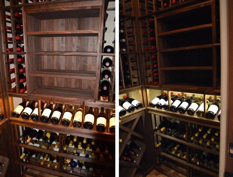Contractors Convert A Closet Into A Custom Wine Cellar In