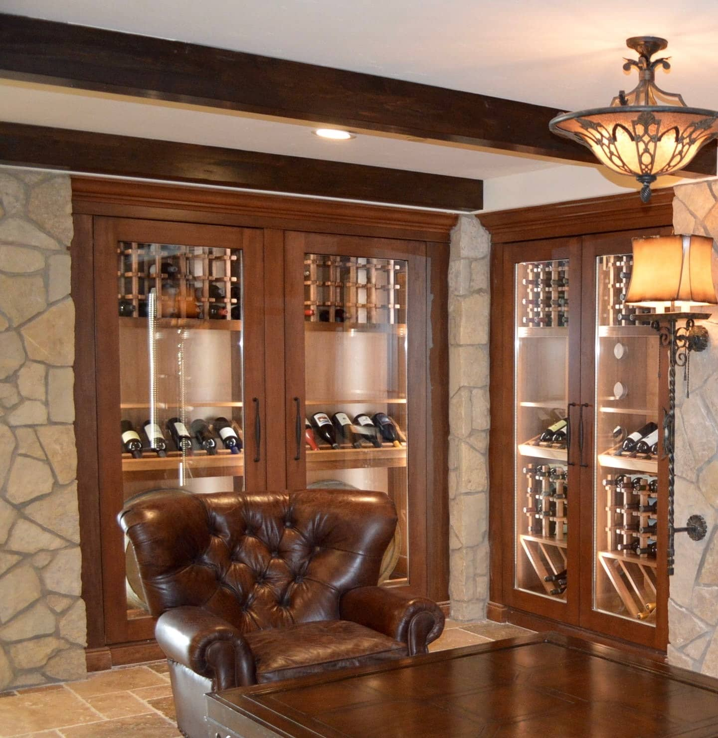 custom cooling system setup for wine cabinets in laguna beach. Black Bedroom Furniture Sets. Home Design Ideas