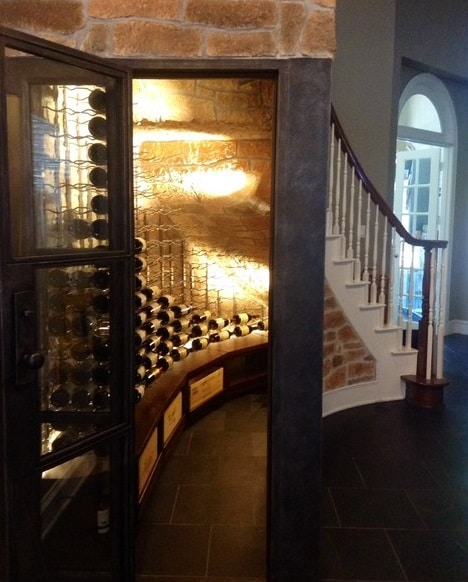 AMAZING TRANSFORMATION: An Under The Stair Closet Converted To A  Contemporary Wine Cellar