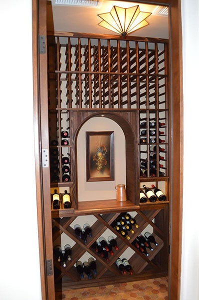 California Small Wine Storage Options Cabinets Closets