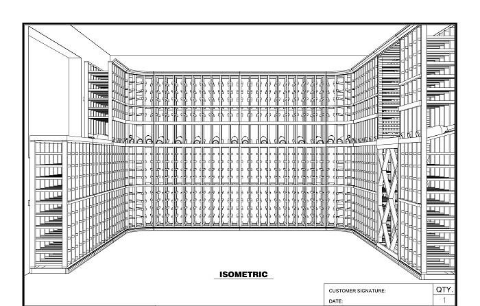 wine cellar design 3d sketch san francisco   Custom Wine Cellars San ...