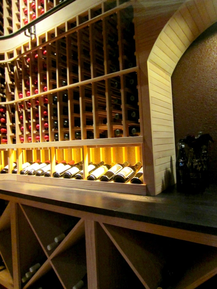 Back Wall of Home Wine Cellar Designed by San Francisco Master Builders