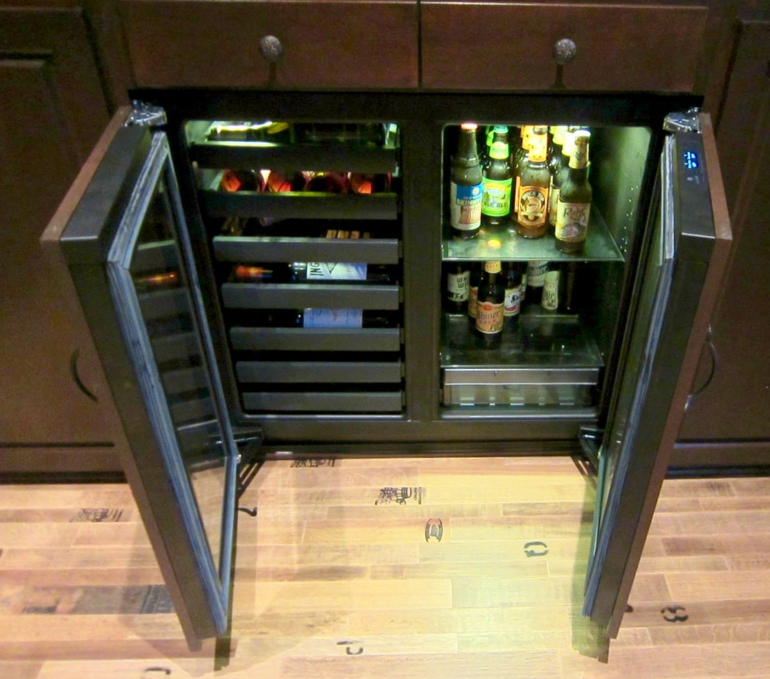 Built-in 3036 model refrigerator by Uline Installed by San Francisco Home Wine Cellar Builders