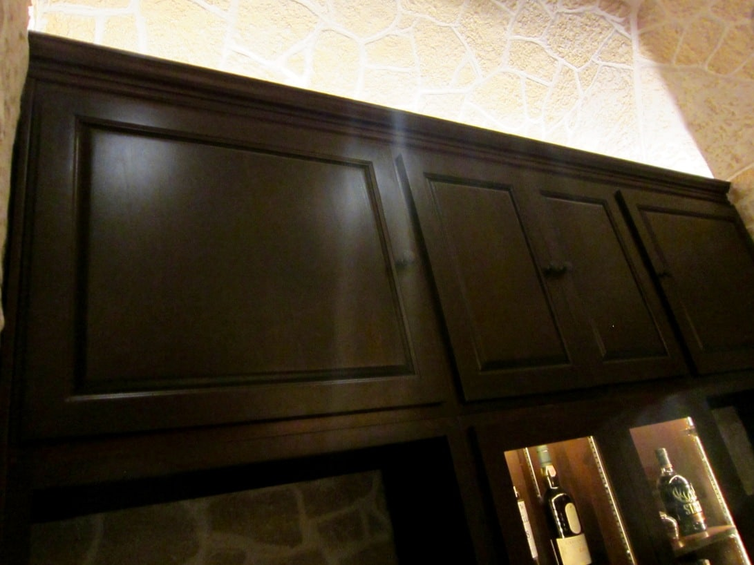 Home Bar Solid Cabinets by San Francisco California Builders