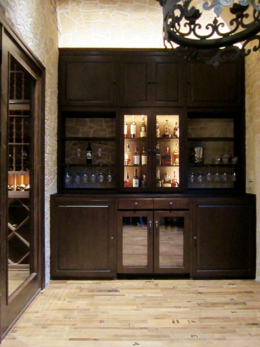 San Francisco Builders Completed this Home Bar in the Wine Tasting Room