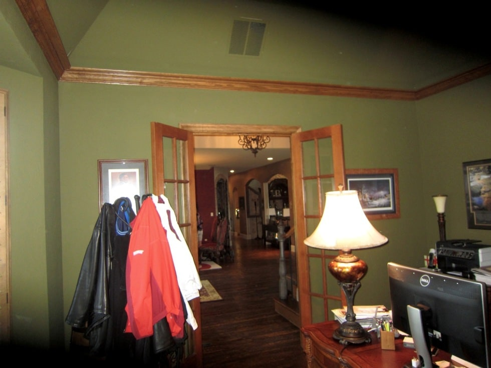 Office Entrance with a Double Door Before Wine Cellar Construction Began