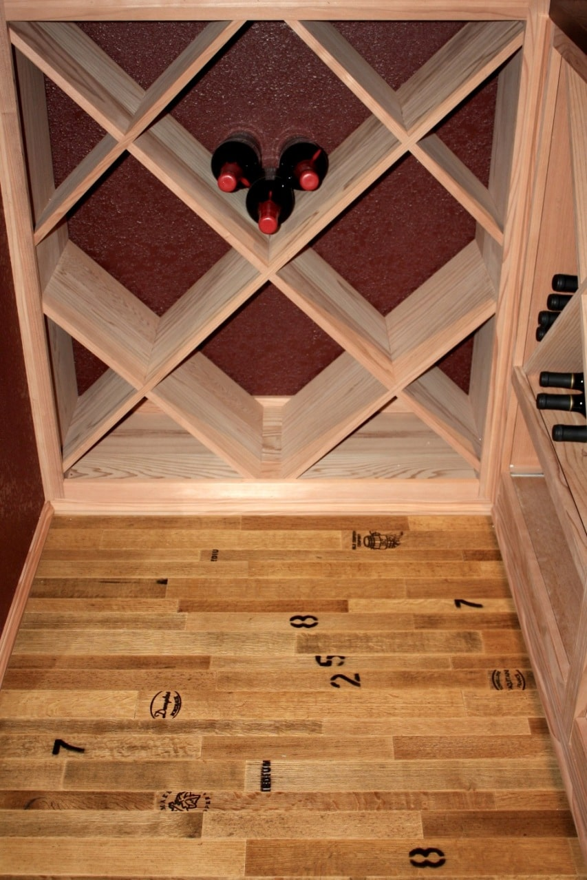 Solid Diamond Bin Wine Rack Style San Francisco Wine Cellar Builders