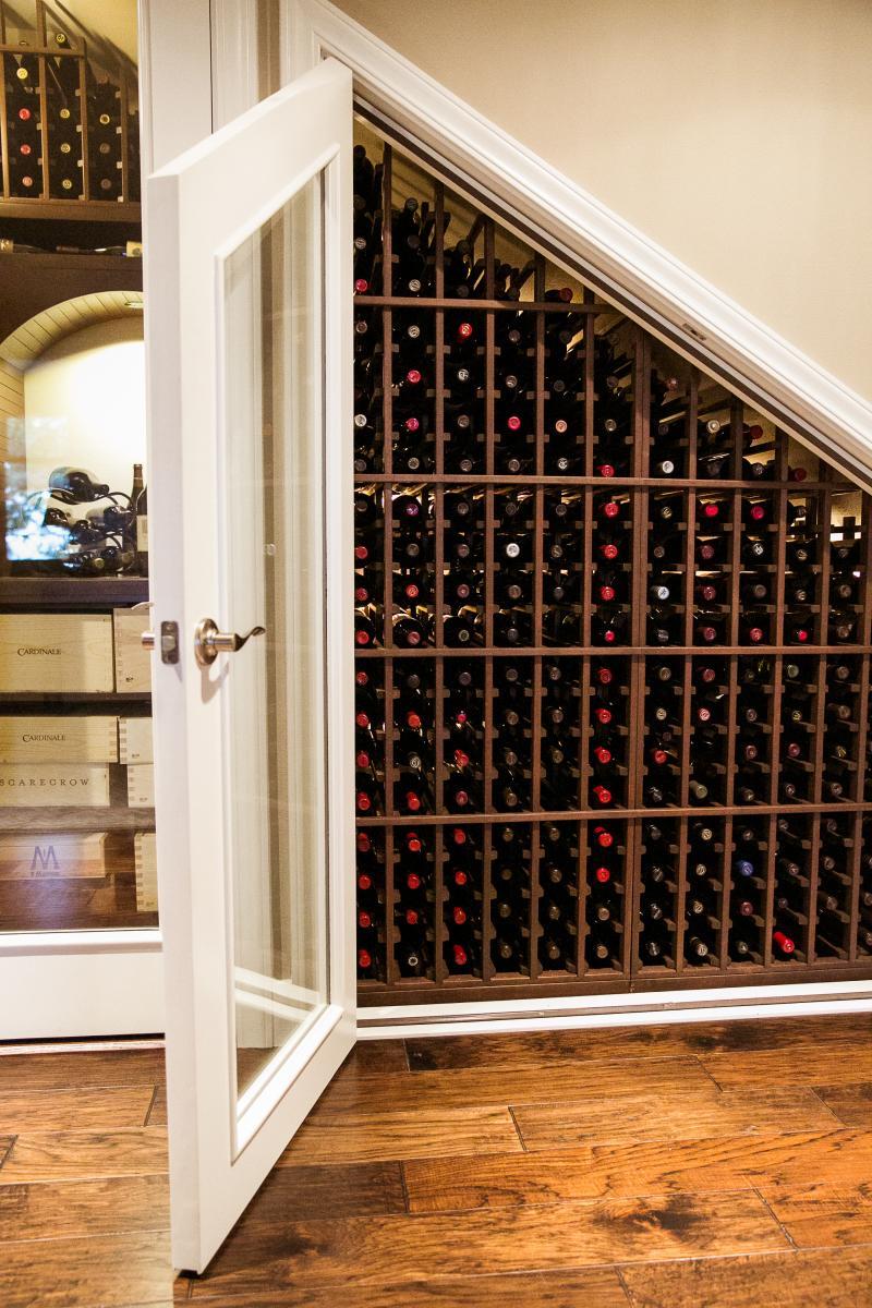 convert a closet into a custom wine cellar rackspace (alamo, ca)